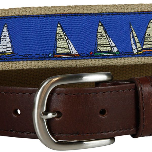 Rounding the Mark Leather Tab Belt