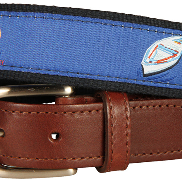 Skiff and Dory Leather Tab Men's Belt