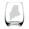 Stemless Etched Wine Glass