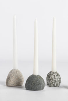 Beach Rock Candlestick Holder