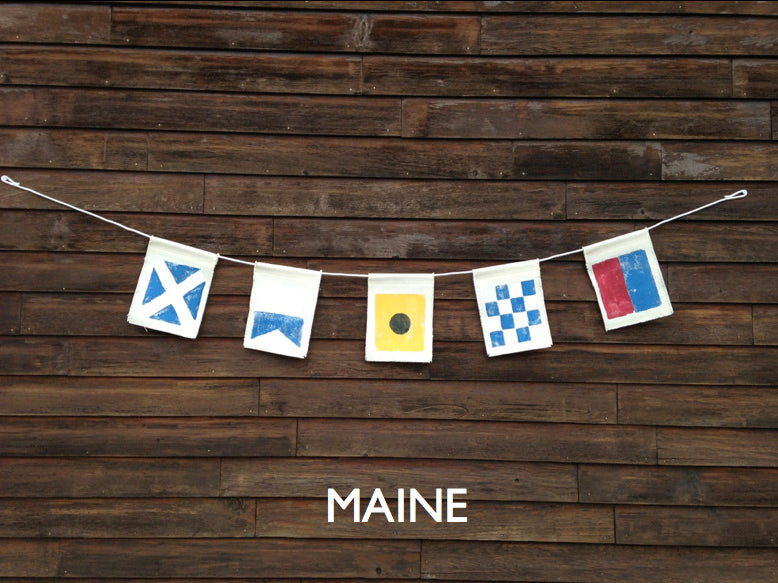 MAINE (5 flags w /rope)