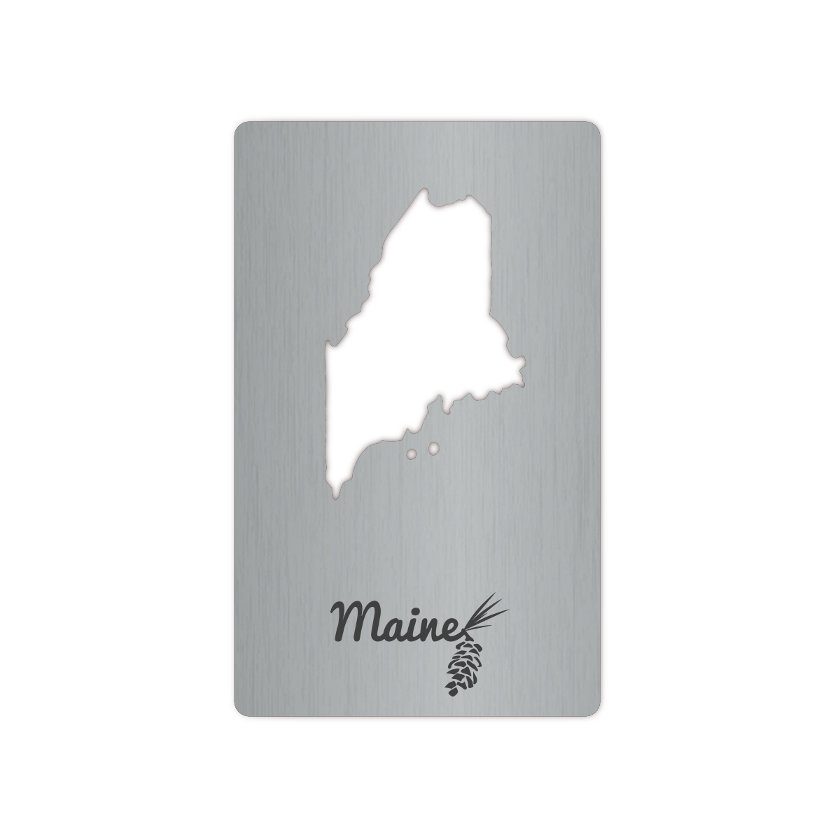 Maine Wallet Bottle Opener Card
