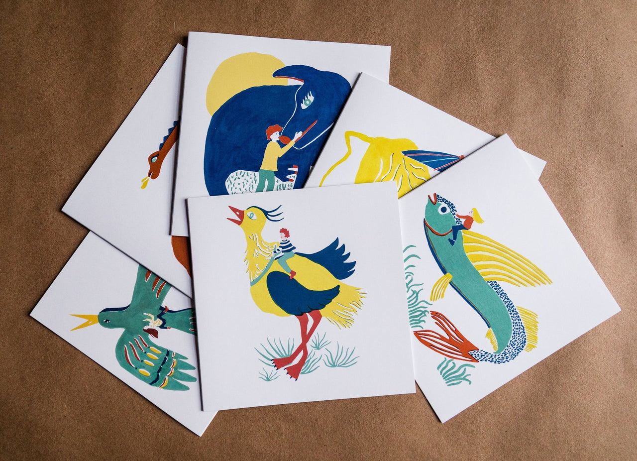 Giant Animals 6 Card Pack