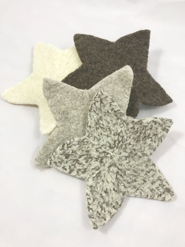 Felted Star Coaster Set
