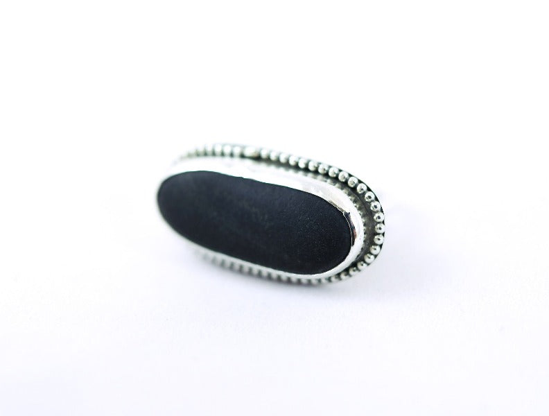 Bezel Long Beachstone Ring