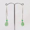 Long Wire Sea Glass Earrings
