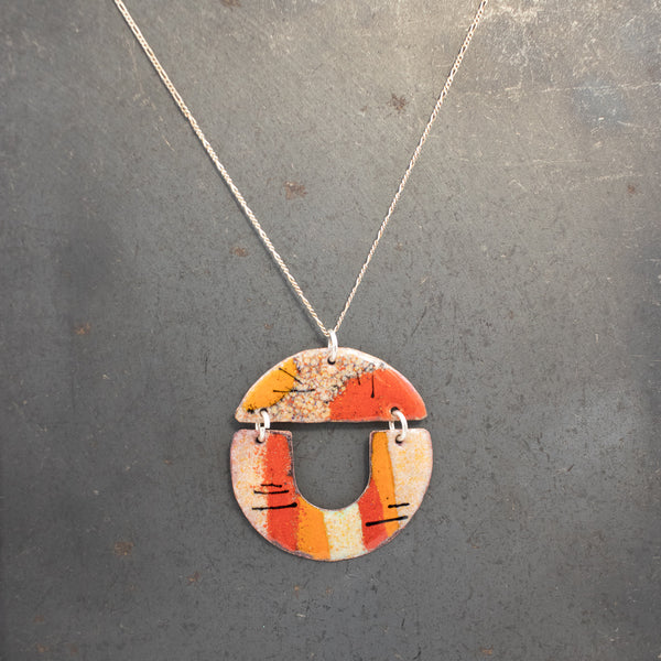 Necklace, Enameled Abstract