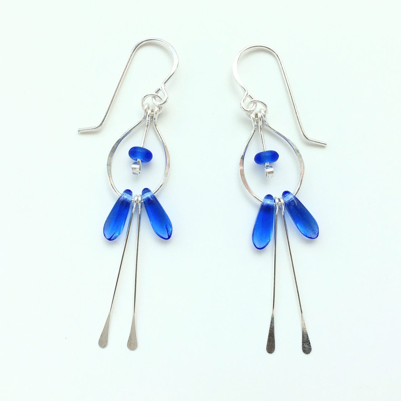 Teardrop Earrings w Fringe
