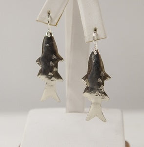 Earrings, N. Atlantic Fish