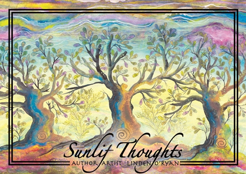 Sunlit Thoughts Postcard Book
