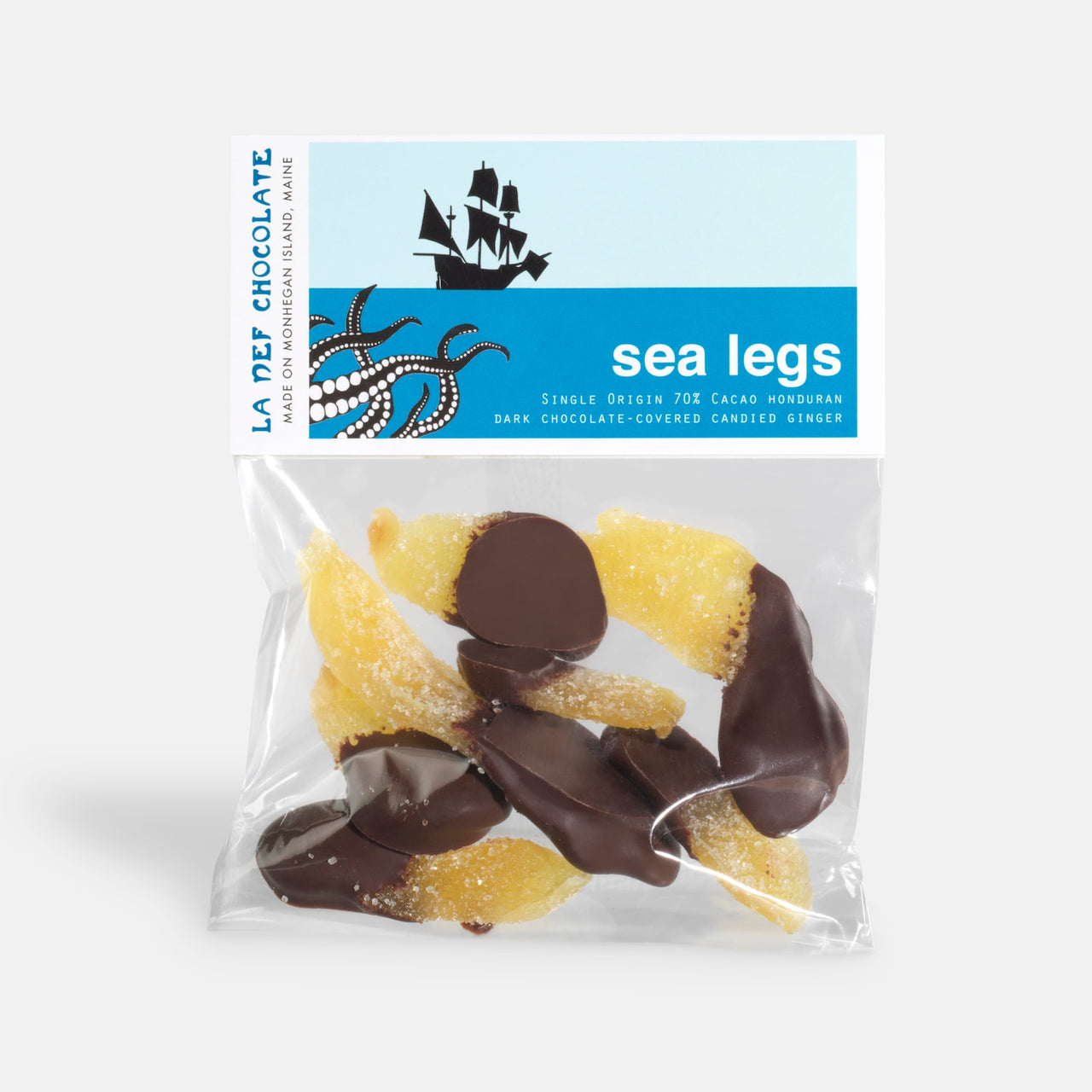 Sea Legs - chocolate dipped ginger