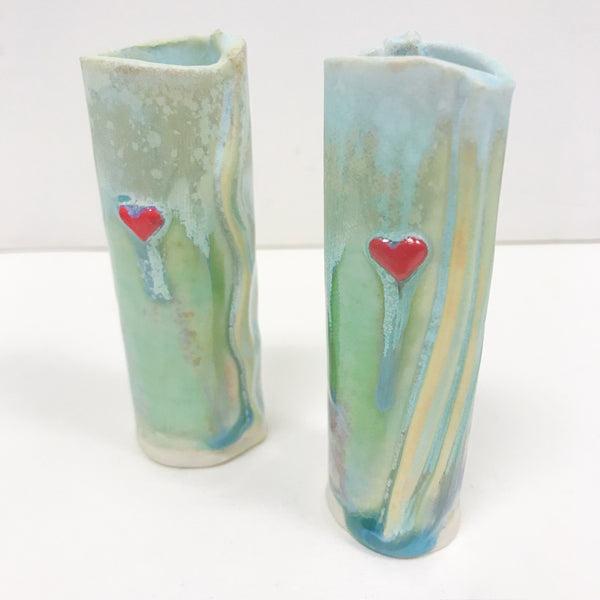Small Bud Vase with Heart