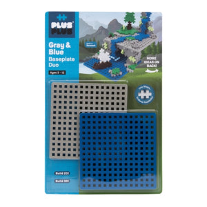 Plus-Plus Baseplate Duo Blue & Gray