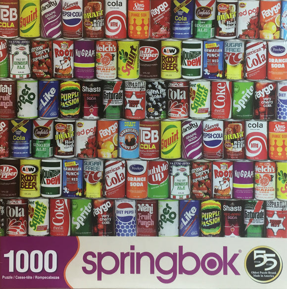 Retro Refreshments 1000 Piece Puzzle