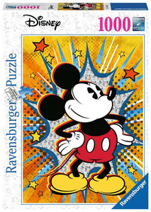 Retro Mickey Mouse 1000 Piece Puzzle