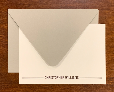 Personalized Notecards - Christopher Williams