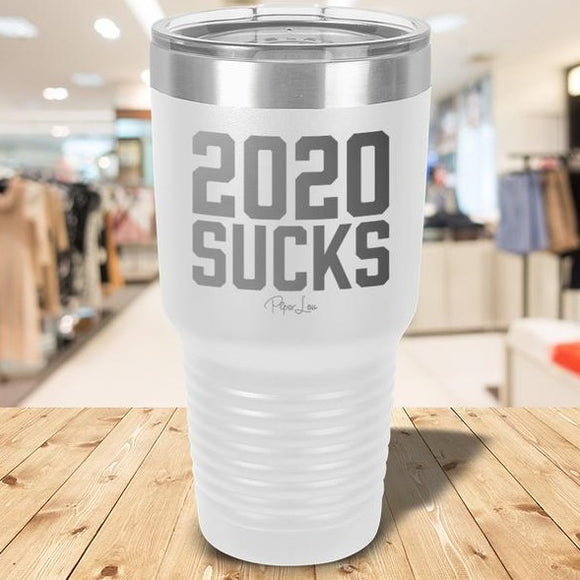 2020 Sucks Laser Etched Tumbler White