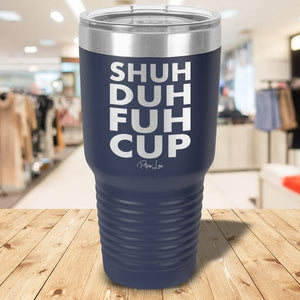 Shu Duh Fuh Cup Laser Etched Tumbler Navy