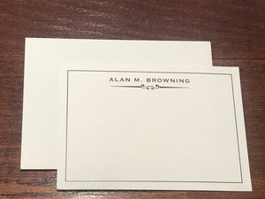 Personalized Notecards - Alan Browning