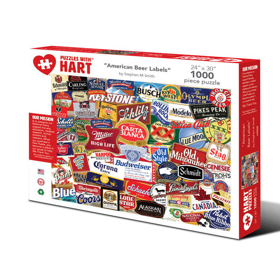 American Beer Labels - 1000 Piece Puzzle