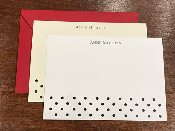 Personalized Notecards - Anne Morton Polka Dots