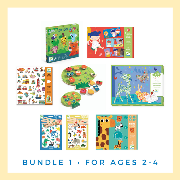 Djeco Activity and Game Bundle for Ages 2-4