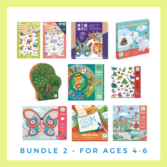 Djeco Activity and Game Bundle for Ages 4-6