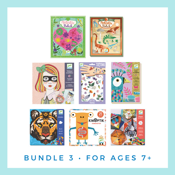 Djeco Activity and Game Bundle for Ages 7-10