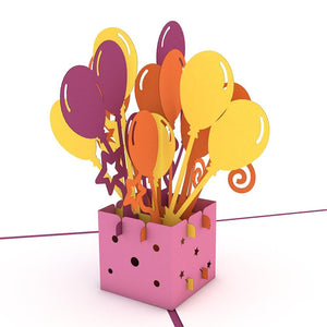 Balloon Bouquet Lovepop Pop-up Greeting Card - stamps included