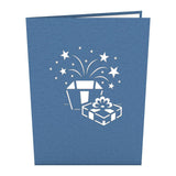 Birthday Present Lovepop Pop-up Greeting Card - stamps included