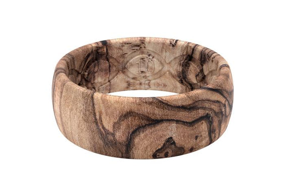 Groove Ring Mens - Burled Walnut