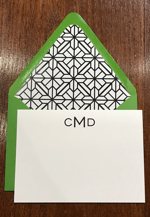 Personalized Notecards - CMD Monogram