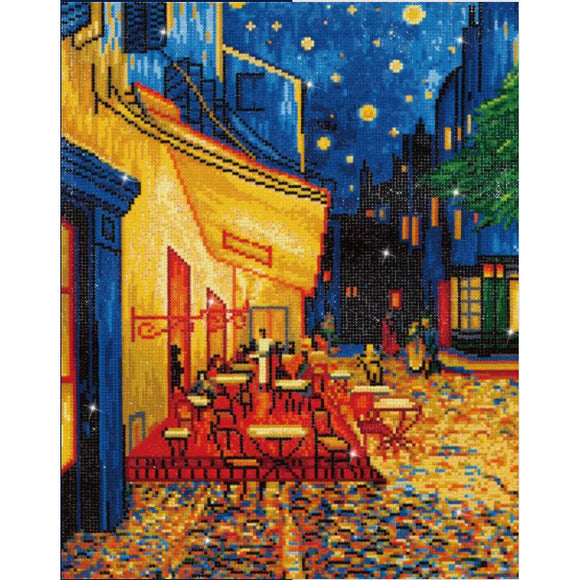 Diamond Painting Kit - 16x20 Van Gogh's Cafe at Night