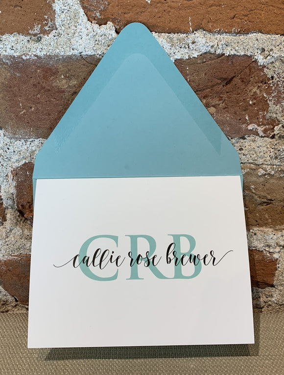 Personalized Notecards - Callie Rose Brewer