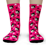 Cat Socks personalized with your cat's face - Toddler Ankle Socks