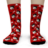Cat Socks personalized with your cat's face - Child Crew Socks