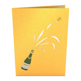 Champagne Lovepop Pop-up Greeting Card - stamps included