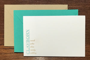 Personalized Family Notecards - Clayborns