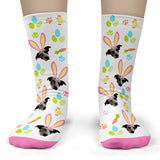 Easter Pet Socks Personalized with Your Pet's Face - Child Crew
