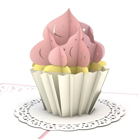 Cupcake Lovepop Pop-up Greeting Card - stamps included