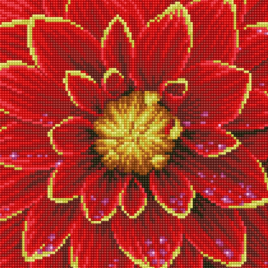 Diamond Painting Kit - 12x12 Dahlia