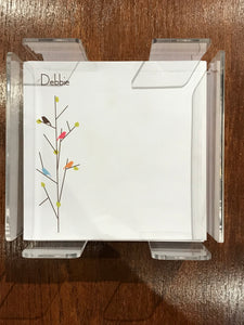 Personalized Memo Cubes - Debbie Birds