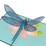 Dragonfly Lovepop Pop-up Greeting Card - stamps included