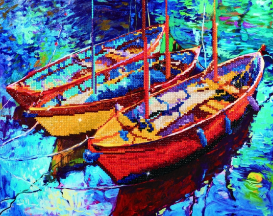Diamond Painting Kit - 18x21 Dream Boats