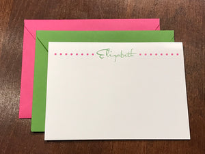 Personalized Notecards - Elizabeth Dots
