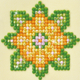 Diamond Paint Kit - 3x3 Flower Mandala 1