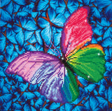 Diamond Painting Kit - 12x12 Butterfly Pink