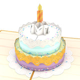Birthday Cake Lovepop Pop-up Greeting Card - stamps included
