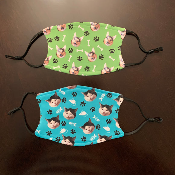 Dog Face Mask personalized with your dog's face!
