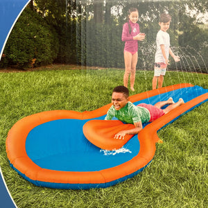 12' Inflatable Water Slide with Landing Pool